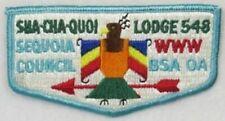 A10262 OA Lodge 548 Sha-Cha-Quoi S2 Flap PUR mountains; MVE