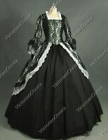 Victorian Steampunk Fairytale Silver Brocade Dress Witch Halloween Ball Gown 164