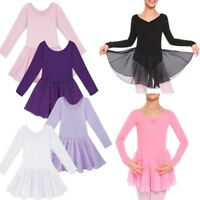 Girls Kids Ballet Dance Tutu Dress Leotard Gymnastic Unitard Ballerina Costume