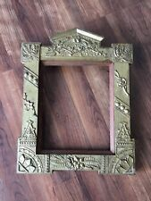 Antique Victorian Naturalistic Ornate Wood & Gesso Floral Picture Frame 1870's