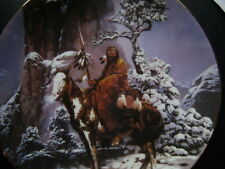 """Hamilton collection 1992 """" Mystic Warrior """" plate/wall plaque Low # 0024X"""