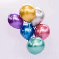 Metallic Chrome Party Balloons 50 pcs pack 12 inch size, Birthday, Graduation