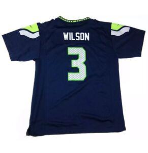 Nike Boys Seattle Seahawks #3 Russell Wilson NFL On Field Jersey Boys SZ L New!!