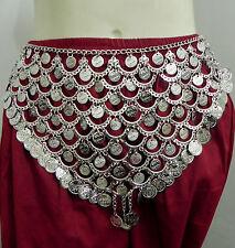 India Banjara Gypsy Kuchi Tribal Silver Belt Belly Dance Hip Scarf Wrap Jewelry