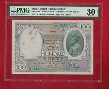 British India King George V 100 Rupees BOMBAY 1928 :PICK 10
