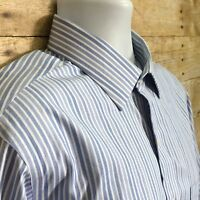 Brooks Brothers Mens 16 1/2 36 Classic Non Iron Blue White Striped Dress Shirt