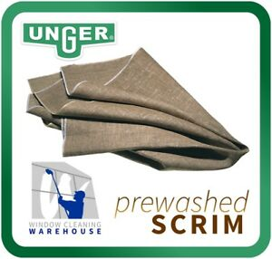 Unger PREMIUM Grade A Scrim PRE-WASHED 92cm x 92 cm WINDOW CLEANING