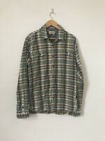 Size Large Tommy Hilfiger Green Check Shirt Western Lumberjack Button Down