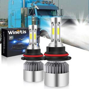 9007 LED Headlight Lamp Conversion Kit Bulbs for 2000-2016 Peterbilt Pete White