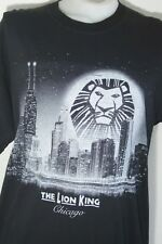 The Lion King Broadway Musical Chicago Black Tshirt Mens XL Disney Presents HTF