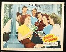 FLAME OF YOUTH Barbra Fuller ORIGINAL 1943 Republic MOVIE LOBBY CARD POSTER