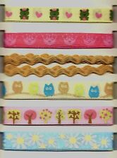 Fanciful FAIRIES.  Printed RIBBONS.  6pcs.  Scrapbooking/Bows/Craft. Fairy, Girl