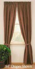 "Sturbridge Wine Country Plaid 63"" Lined Short Curtain Panel Set by Park Designs"
