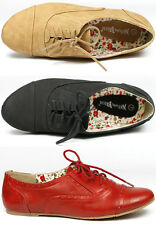Black Tan Beige Red Perforated Lace Up Oxford Flat  Nature Breeze Cambridge-33