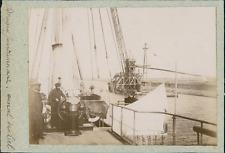 Allemagne, Drague fonctionnant sur le Canal de Kiel, ca. 1900  Vintage citrate p