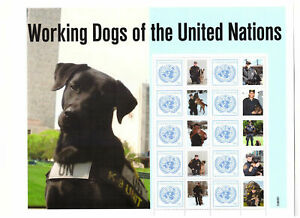 S9629) United Nations(Ny) MNH 2011, Woking Dogs Ms