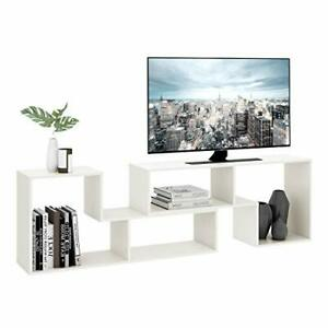 TV Console Stand, Modern Entertainment Center Media Stand, TV Table White