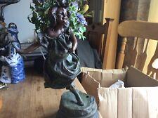 Art Nouveau Bronze Figure Of A Girl Lamp Base , Unusual