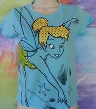 Disney Tinkerbell Girl's Blue's T-shirt Size Medium