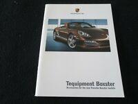 2009 2010 Porsche 987 Boxster & S Tequipment Catalog Accessory Brochure Carbon