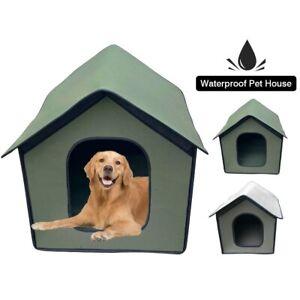 Dog Cat Foldable House Detachable Weatherproof Outdoor Indoor Shelter Pet Supply