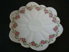 VINTAGE WILEMAN FOLEY PRE-SHELLEY DAISY SHAPE GARLAND OF PINK ROSES SAUCER