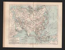 Landkarten map 1905: Forschungsreisen in Zentral-ASIEN. Sibirien Afghanistan