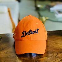 New Embroidered Raised Logo BUDWEISER / DETROIT TIGERS Orange Baseball Hat/Cap