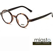 "NWT$39.99 MIASTO ROUND ""LENNON/ POTTER"" SMALL READER READING GLASSES +1.50 BROWN"