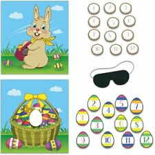 """Easter Party Game 19"""" x 17.5"""" Pin the Tail Game Easter Decoration & Supplies"""