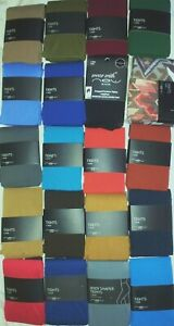NEW LOOK COLOURED BLACK OPAQUE CONTROL TIGHTS S M L (XL OR PLUS SEE SEP LISTING)
