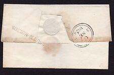 1824 North Devon wrapper with fine South Molton straight line pmk with hyphen