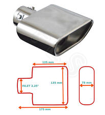"""UNIVERSAL STAINLESS STEEL EXHAUST TAILPIPE 2.25"""" INLET YFX-0267  ALR"""