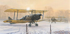 P West Tiger Moth print Those Were The Days signed by 3 Battle of Britain pilots