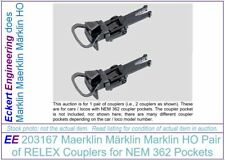 EE 203167 NEW Marklin HO Pair Couplers RELEX NEM 362 (aka 72060)