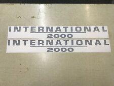 International 2000 Loader Decals