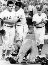 CLASSIC  PETE ROSE  TAKES OUT RAY FOSSE ALLSTAR GAME REDS 8x10 AA