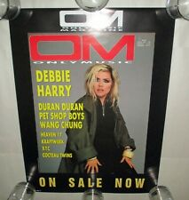 Rare Poster Debbie Harry Mint 1987 Francesco Scavullo Blondie 'Om Music' 24 x 18