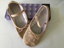Dance Class Womens Pink Leather Split Sole Ballet Shoes New Size 10