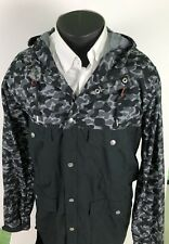 4f6150b1 Nike Black And Gray Camo Jacket Full Zip & Snap Hoodie XL Men's Sharp