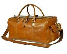 XLARGE Genuine Real Leather Duffel Weekender Gym Travel Holdall Hand Bag RRP£220