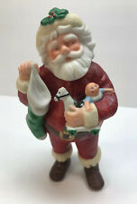 Vintage Hallmark porcelain SANTA Christmas Ornament Figurine 1986 Jolly St Nick