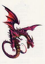 Temporary Tattoo, Dragon Tattoo, AGD234 07-12, violetter Drache