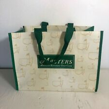 """Augusta National Golf Masters Tournament Shopping Tote Bag 15 x 11"""" Reusable"""