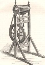 USA. Franklin's 1st Electrical Machine c1880 old antique vintage print picture