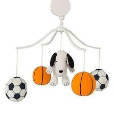 Snoopy Sports Musical Mobile Baby Boys Nursery Decor Crib Soccer Basketball New