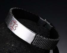 Brand New stainless steel Women Men Red medical Logo Chain Bracelet 15mm 8.66''