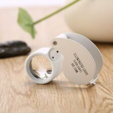 Mini LED Ojo Vidrio Lupa de Joyero Bolsillo Lupa Lupa + caja al por menor Reino Unido