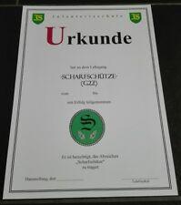 URKUNDE Scharfschütze (G22) Bundeswehr Infanterieschule, Sniper, Certificate