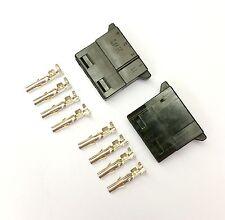 Pacco da 2-FEMMINA 4 PIN MOLEX PC PSU POWER SUPPLY connettore-Nero Inc PIN
